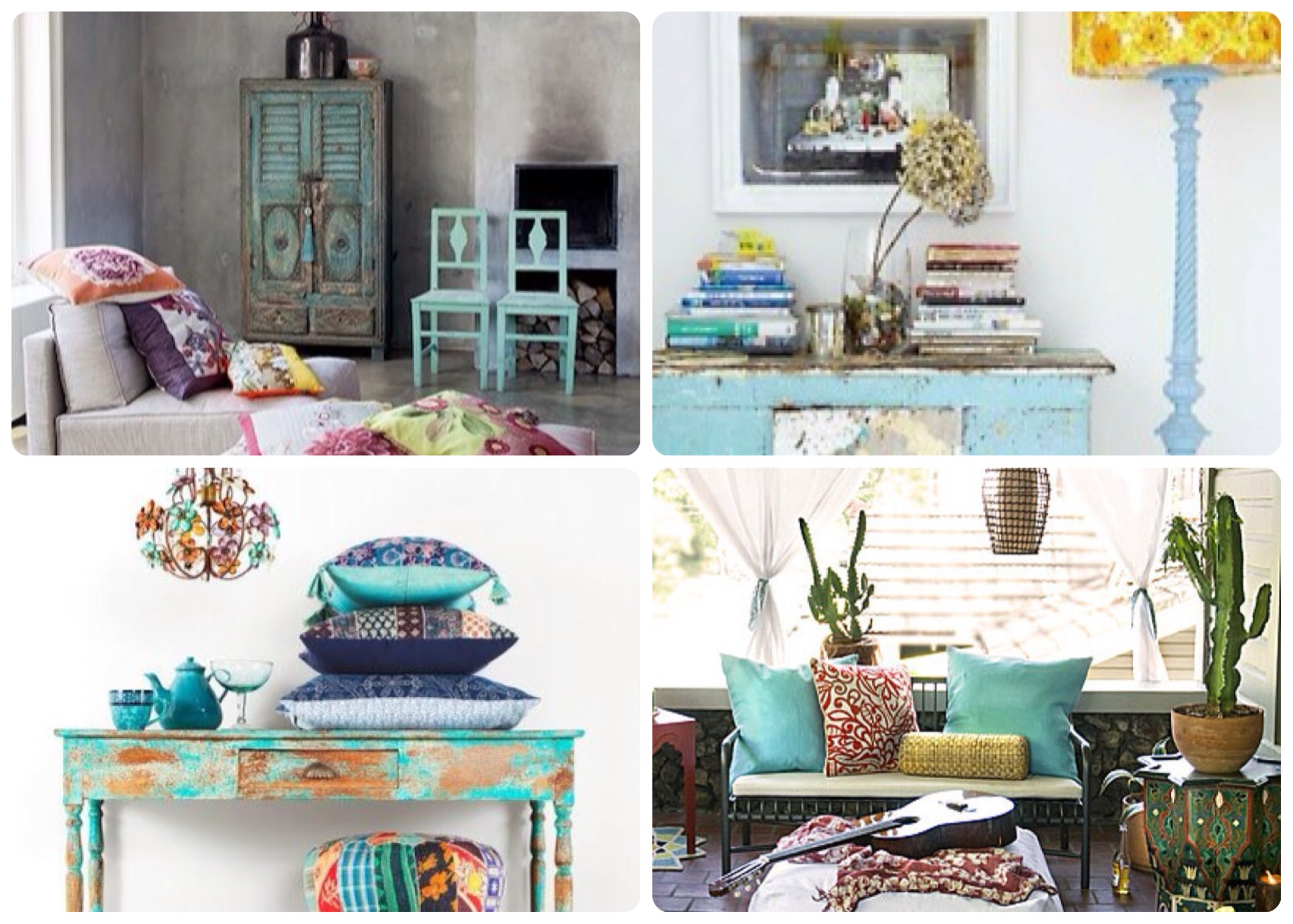 Las claves de la deco boho chic clouds events for Muebles hippies